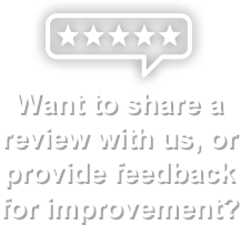 We'd Love Your Review