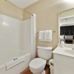 bathroom - Siegel Select Gautier, MS affordable extended stay hotel suites & weekly / monthly apartment rentals