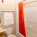 bathroom - Siegel Select Alexandria, LA best priced extended stay hotel suites & weekly / monthly apartment rentals