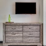 dresser & flat screen TV - Siegel Select Bossier City, LA best priced extended stay hotel suites & weekly / monthly apartment rentals