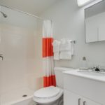 bathroom - Siegel Select Bossier City, LA best priced extended stay hotel suites & weekly / monthly apartment rentals