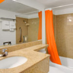bathroom - Siegel Select Convention Center Las Vegas best priced extended stay hotel suites & weekly / monthly apartment rentals